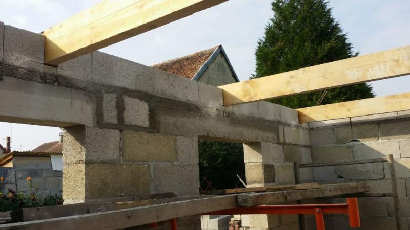 Extension de batiment r novation habitation fontaine bonneleau - Espacement bastaing pour plancher ...